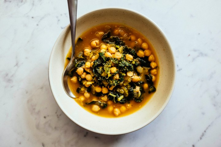 Chickpea and kale soup