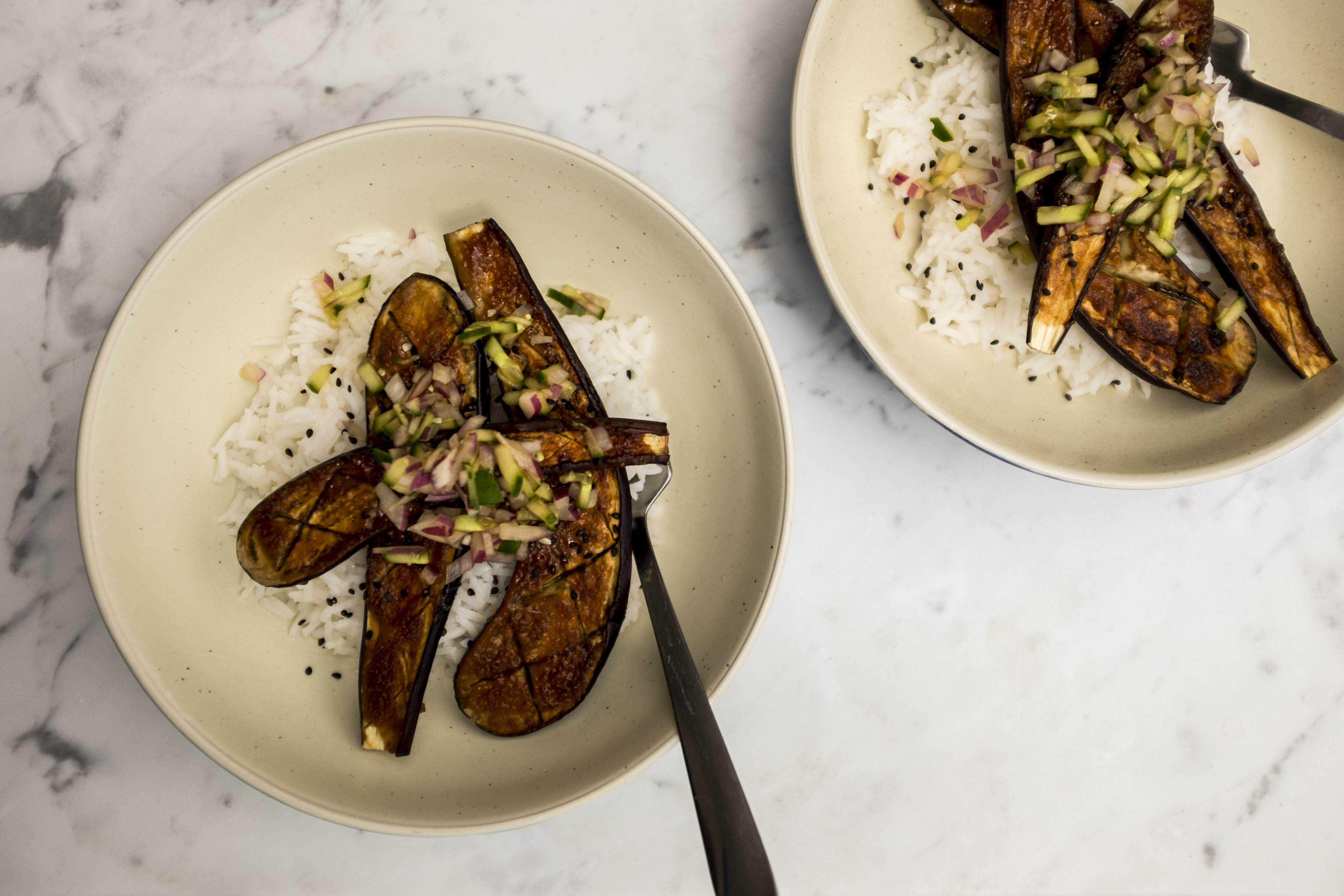 Kale Mary Blog miso eggplant